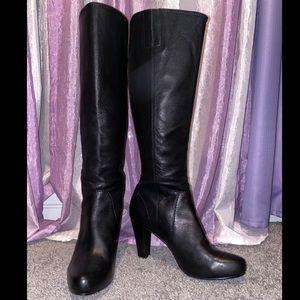 FRYE Company Marissa Black Tall ZIP Boots